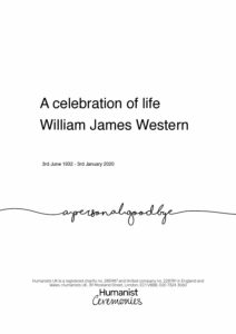 William James Western, Billy, Tribute Archive
