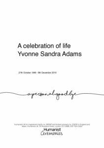 Yvonne Adams Tribute Archive