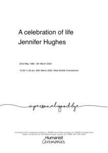 Jennifer Hughes for Archive