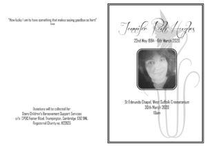 Jenny Hughes Order of Service