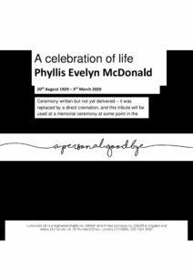 Phyllis McDonald Tribute Archive