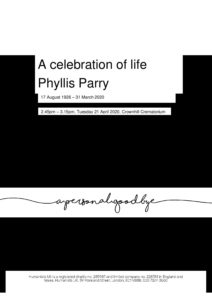 Tribute - Phyllis Parry