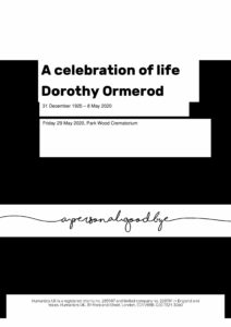 Dorothy Ormerod Tribute Archive