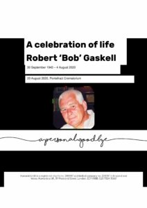 Bob Gaskell Tribute Archive