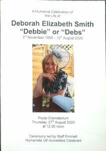 Deborah Elizabeth Smith Order of Service