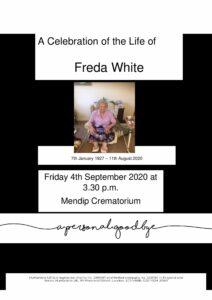 Freda White Tribute-cover final