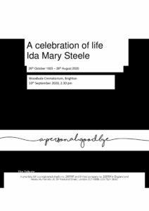 Ida Mary Steele Tribute Archive