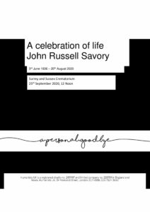 John Russell Savory Tribute Archive