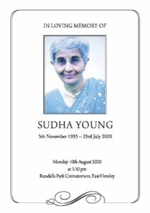 Sudha Young Order of Service