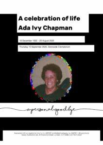 Ada Ivy Chapman Tribute Archive