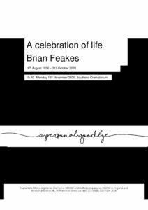 Brian Feakes Tribute Archive1