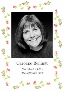 Caroline Bennett Order Of Service