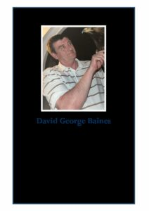 David George Baines Order of Service
