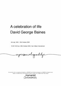 David George Baines Tribute Archive