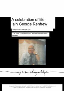Iain George Renfrew Tribute Archive