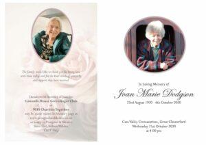 Joan Marie Dodgson Order of Service