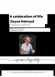 Joyce Holroyd Tribute Archive