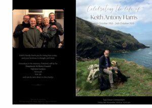 Keith Antony Harris Order of Service