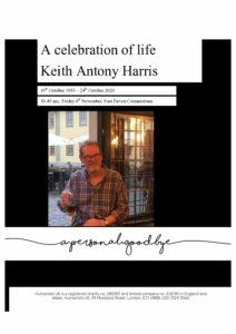 Keith Antony Harris Tribute Archive