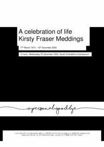 Kirsty Fraser Meddings Tribute Archive