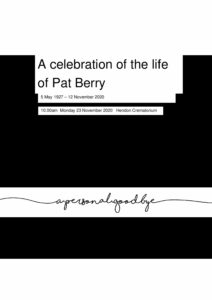 Pat Berry Tribute Archive