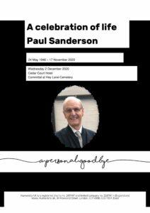 Paul Duncan Sanderson Tribute Archive