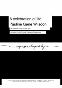 Pauline Gene Wilsdon Tribute Archive