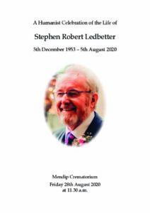 Stephen Robert Ledbetter Order of Service