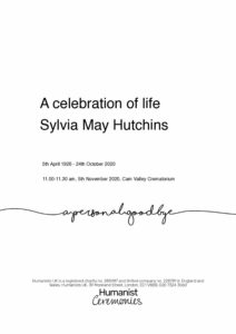 Sylvia May Hutchins Tribute Archive