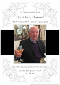 David Henry Hazard Order of Service