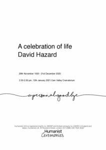 David Henry Hazard Tribute Archive