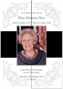 Elsie Christine Hart Order of Service