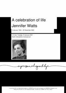 Jennifer Watts Tribute Archive1