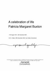 Patricia Margaret Buxton Tribute Archive