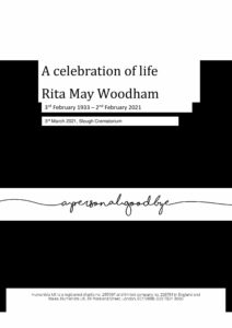 Rita May Woodham Tribute Archive