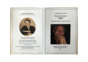 Ronald Wilson Order of Ceremony