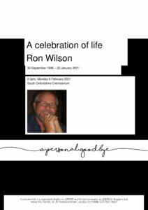 Ronald Wilson Tribute Archive