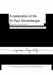 Dr Paul Schatzberger Tribute Archive