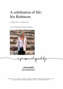 Iris Robinson Tribute Archive