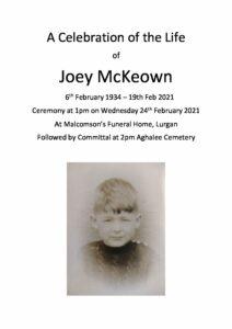Joey McKeown Tribute Archive