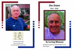 Joseph Lucas Jones Order of Service