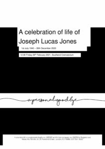 Joseph Lucas Jones Tribute Archive