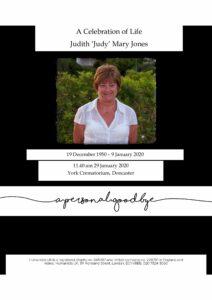 Judith Mary Jones Tribute Archive