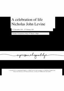 Nicholas John Levine Tribute Archive