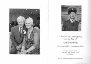Arthur Gribben Order of Ceremony