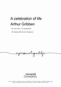Arthur Gribben Tribute Archive