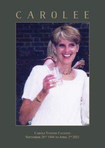 Carole Yvonne Caulton Order of Service