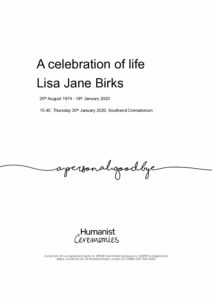 Lisa Jane Birks Tribute Archive