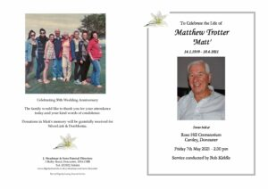 Matthew Trotter Order of Service