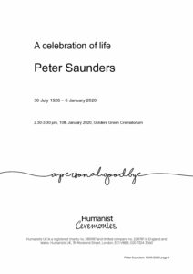 Peter-Saunders-Tribute Archive